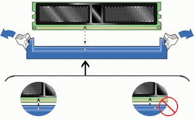 Установка оперативной памяти на компьютер