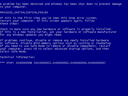 BSOD — Синий экран смерти