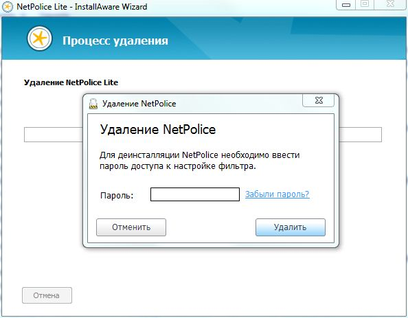 Установка NetPolice Lite (родительский контроль)