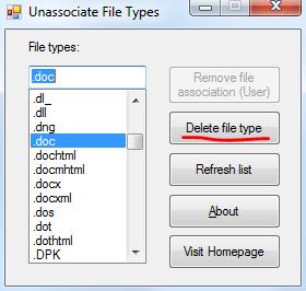 Исправляем ассоциации (сопоставления) файлов в Windows 7